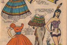 Бумажные куклы. / Любимое увлечение моего детства.