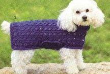 Crrochet dog coat