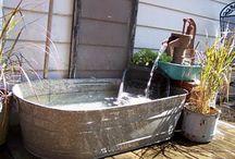 bañera jardin