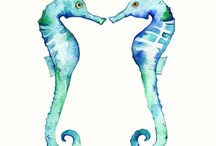 Seahorse / Cute and adorable seahorses.  Inspiration for crafts and home decor. Includes indie handmade makers.
