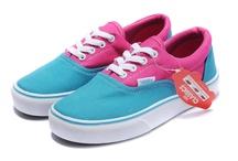 Vans Canvas Era Shoes Blue Pink/Blue