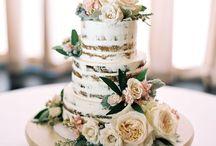 Tartas de boda Naked / Pasteles de boda y celebraciones variadas de estética muy naturales y con mucho encanto