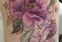 Blomster tatovering