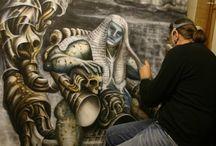 SCULPTURES, EXHIBITIONS / Of artist Steven Vincent Mitchell