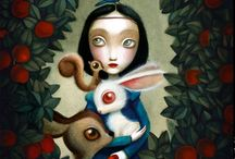 Snow White / skin white as snow, hair black as ebony, and lips red as blood.