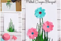 Melted crayon mothers day present