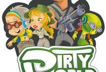 DIRTYWORLD-GAME / Diseño de personaje Video -Game DIRTYWORLD. con un enfoque futurista relacionado en la implementación de energias renovables