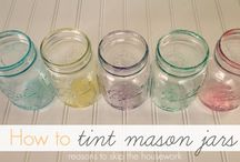 Mason Jars / Everything's better, and much cuter, when in a mason jar. Here are crafts and gift ideas for you to make with those leftover jars you've got hanging around your kitchen counter and cabinets.