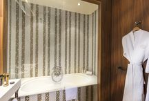 Bathrooms / Have a relaxing time in our fully furnished designed bathrooms.