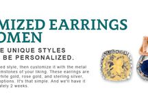 Custom Earrings for Women / Customized Earrings for Women Each of these unique styles are ready to be personalized. To start choose your desired style, then customize it with the metal of your choice, and the gemstones of your liking. These earrings are available in yellow gold, white gold, rose gold, and sterling silver, and with many gemstone options. It's that simple. And we'll have it made for you in approximately 2 weeks.
