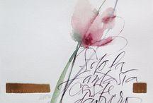 CONECT (Sumie/Shodō/Roman caligraphy/Haiku)