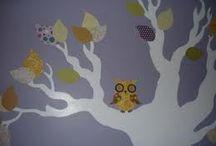 Nursey tree murals / Baby's room murals