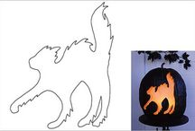 Cat Pumpkin Carving Stencils