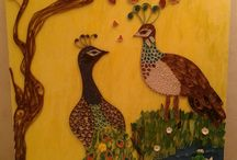 wall art by quilling / Quilling, paper art