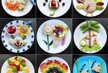 A feast for the eyes - food ideas for kids / It's all in the presentation! Fun foodie ideas to get your kids to eat healthy or in fact get them to eat if you have fussy eaters!