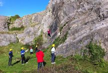 Climbing / We specialize in introductory sessions for groups but can run sessions for more advanced participants. Generally held on the limestone crags of Mendip but can be elsewhere in the South West.