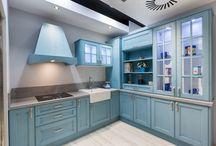 Cocinas Vintage Azules