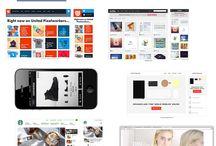 10 websites / Deze 10 websites bevatten allemaal pictogrammen en elementen die ik zelf ook wil gaan gebruiken voor de mobiele website.