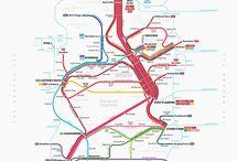 Illustrations - Cartes de métro