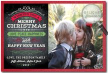 Vintage Chalkboard Holiday Photo Cards!
