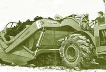 Allis-Chalmers classic motorscrapers / Scrapers profiled in Contractor magazine