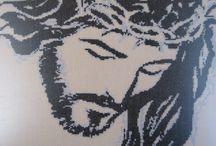 religiosos punto de cruz