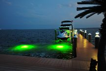 Waterfront Lighting Made In the USA / Marine grade non-metallic, rust and corrosion resistant, durable and easy maintenance lighting products made in the USA by Mac-Cap Lighting.  www.maccaplighting.com