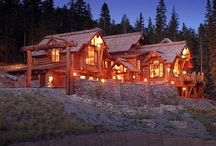 Log Homes / A pinboard featuring images of stunning log homes.