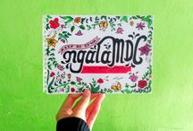 My project | When Typography meet Flowers / When the lips can't say, then creativity in action | Keep on da'wa!