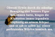 """Erwin - Best Of / Die besten Zitate und Sprüche aus Christoph Fromms Groteske """"Amoklauf im Paradies""""!"""