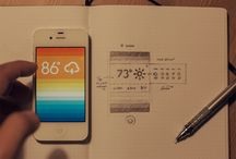 iPhone App Design / Collection of interface layout for iPhone applications