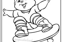 Alvin and Chipmunks Coloring pages / Alvin and chipmunks coloring pages, Alvin chipmunks, Alvin, the chipmunks, Alvin in city in texas, tree squirrel, Alvin and chipmunks magic coloring book, coloring sheet,  free printable coloring pages for kids, online coloring pages,