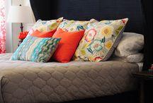 Fundas, almohadas, cortinas.