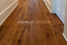 Fabulous Reclaimed Hardwood Floors! / Once a beam in a farmer's barn, a supporting joist for a warehouse roof or a hand-hewn girder in a stable, no two pieces of reclaimed wood are exactly alike. / by Olde Wood Limited