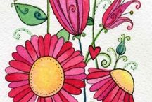 Inkleur en doodles