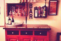 .home bar.