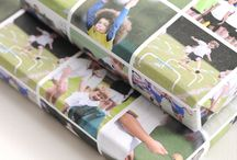 DIY ideas / Use your photos to create wrapping paper with a story to tell. Here are some great DIY ideas.