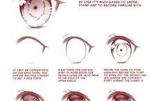 уроки рисования (Аниме - части тела)