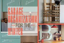 Garage Store and Organization / Garage design, shelving, storage and organization