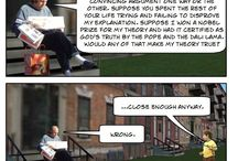 An Old Man From Jersey Explains Life / Web comics about an old man explaining life to a young boy