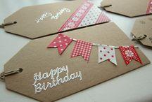 Cartoline, Tag ed etichette regalo