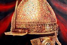 Anadolu Medeniyetleri -Türk ve İslam Sanat Eserleri Merkezi  / Anatolian Civilizations  Turkish and Islamic Works of Art Osmanlı Sultan Miğfer 16.yy 110x170 cm yağlıboya