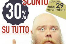 SCONTO 30%_domenica 29/11 / SCONTO 30% su TUTTO! Solo domenica 29 novembre per i fidelizzati! Esclusi articoli sci e Polar. Corri in negozio!