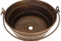 Copper vessel sinks / Beautiful handmade copper sinks for your bathroom