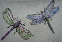 Embroidered Insects