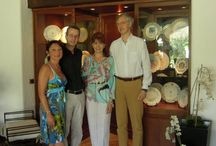 """Welcome to """"La Meridiana"""" by Edmondo e Alessandra Segre / Edmondo e Alessandra Segre welcome Guests and Friends           at """"La Meridiana Relais & Chateaux"""" in Garlenda"""