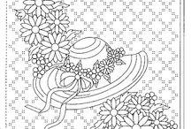 Šablony-květinové vzory