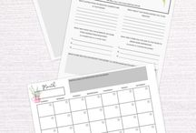 Printables to organise your life! / Printables to inspire, plan and organise your life. From planners to worksheets these pins will make your life easier!