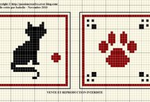 gatti punto croce