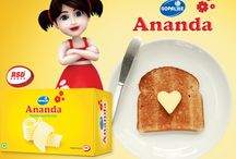 Ananda Butter / Ananda butter is creamier, tastier and spreads easily.Low on salt, it is produced under totally hygienic conditions. This white butter is ideal to enjoy with bread, paranthas, rotis, nans, sandwiches, bhaji, dals, saag, rice, soups & other preparations.